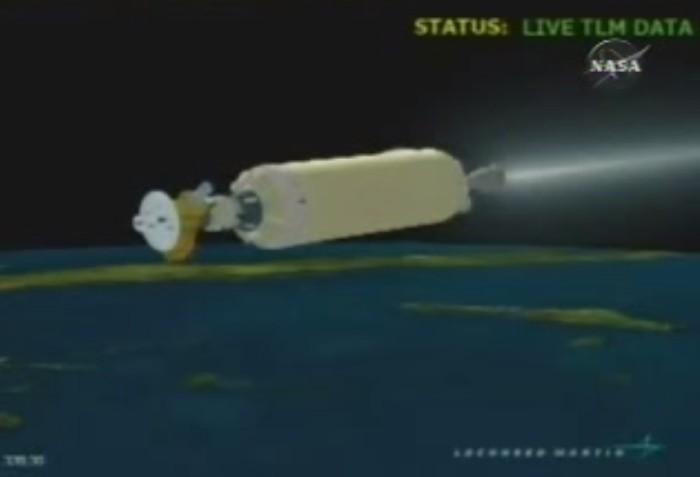 foguete simulado em tela de computador