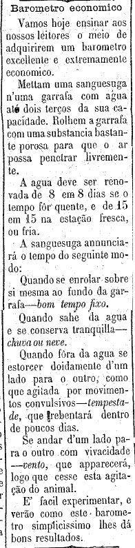 noticia no jornal sobre previsão do tempo com sanguessugas