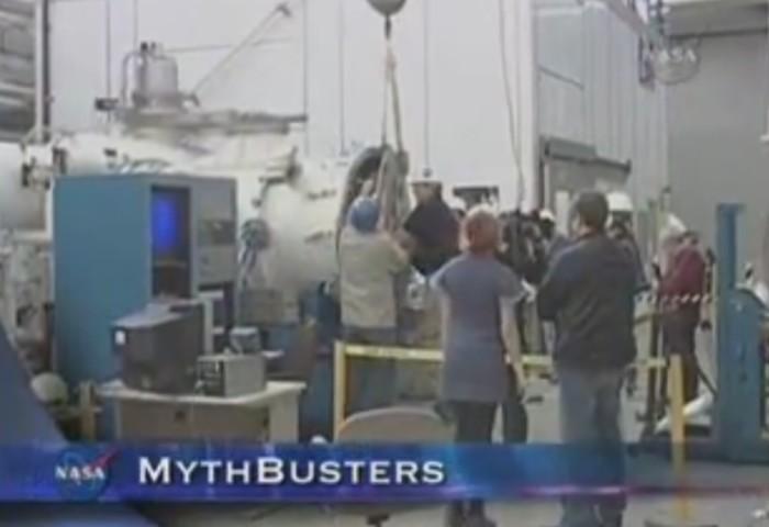 equipe de tv filma experimentos