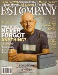 capa da revista com Gordon Bell