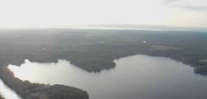 lagoa e floresta