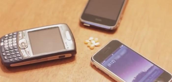 3 celulares e algumas pipocas