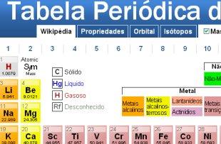 tabelas periodicas em flash