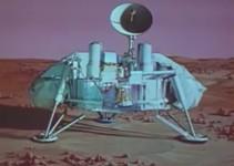 sonda científica na superfície de marte