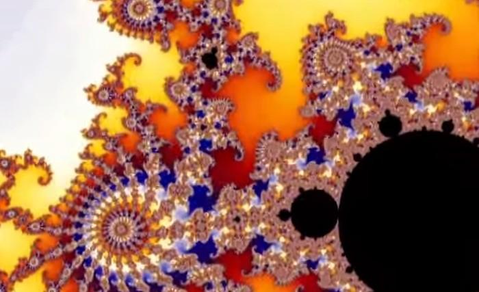 padrão fractal colorido