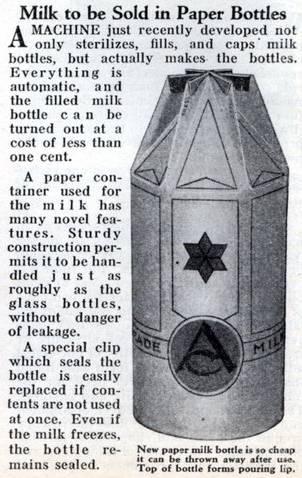 garrafa leite papelao