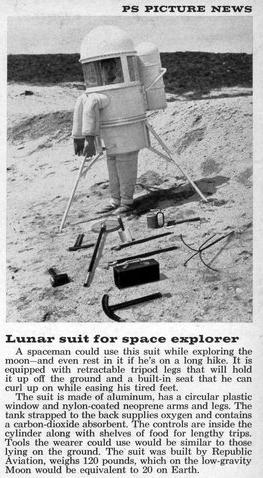 traje lunar antigo