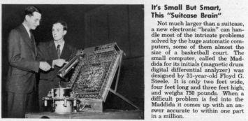 computador antigo tamanho mala