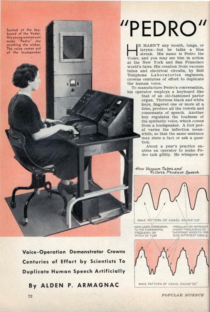 matéria de uma revista de 1939