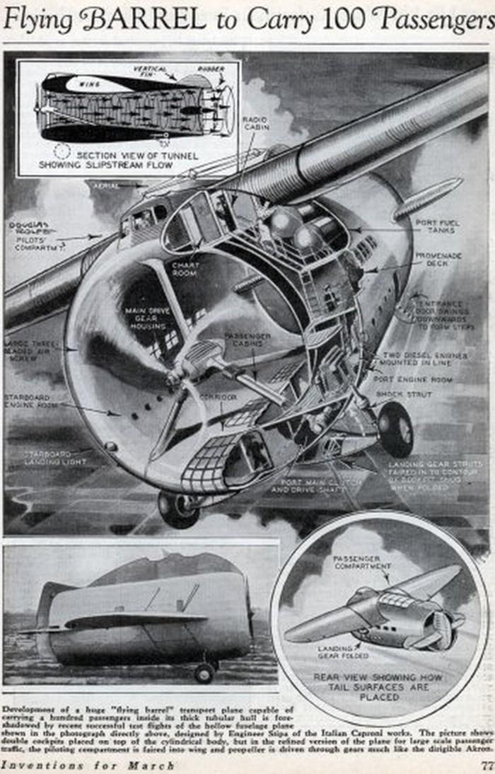 página de uma revista antiga