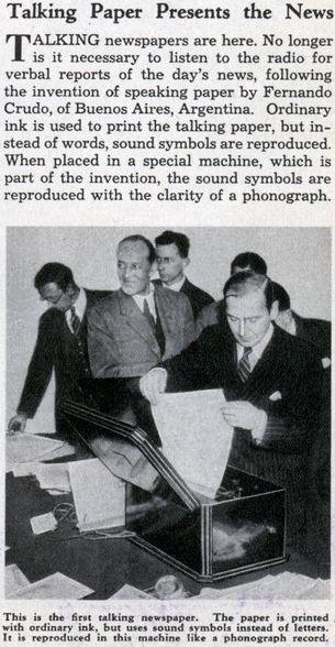 jornal falante 1936 fonografo