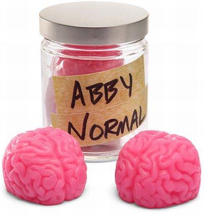 sabonete em formato de cérebro