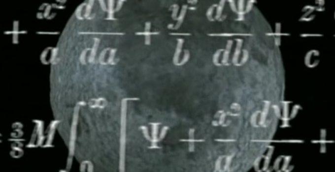 equações sobrepostas à Lua