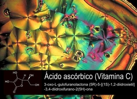 cristais e estrutura do ácido ascorbico