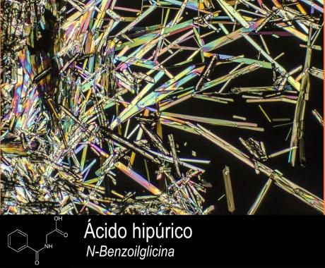 cristais do composto quimico