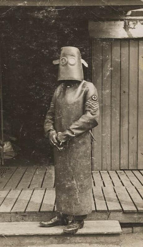 foto antiga de um radiologista