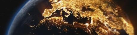 países iluminados visto do espaço