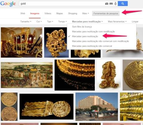 tela do resultado de busca no google imagens