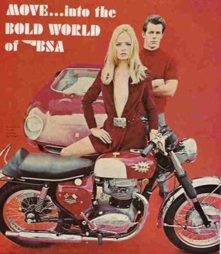 anúncio antigo de motocicleta