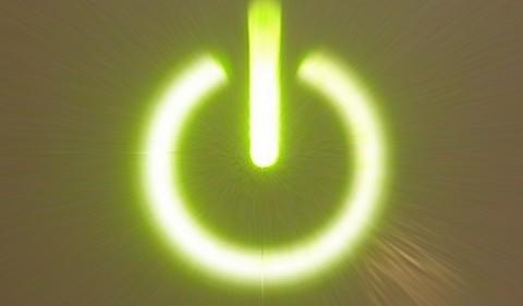 botão com sinal liga desliga
