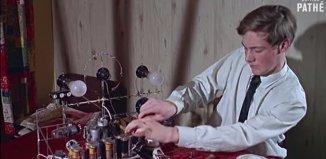 captura de tela do vídeo mostrando o invento e o inventor