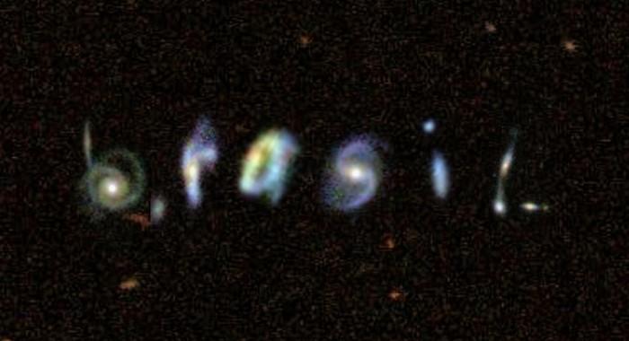 brasil escrito com imagens de galáxias