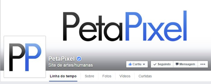 captura da tela da petapixel no face