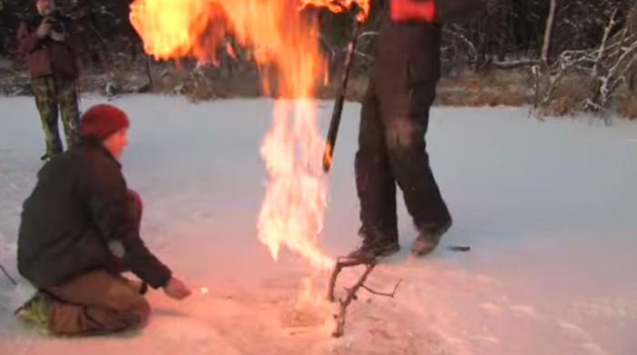 labareda sobre gelo
