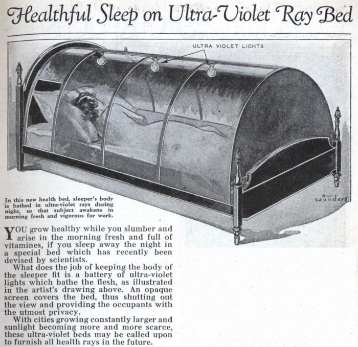 invento de 1932 com luz ultravioleta