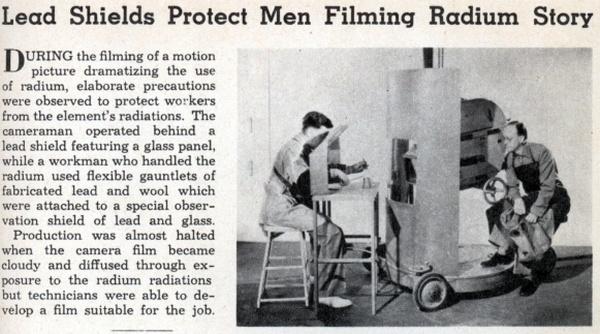 matéria antiga descrevendo filmagem do radio