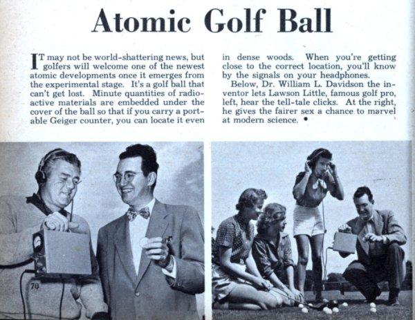 revista antiga sobre invenção para golfistas