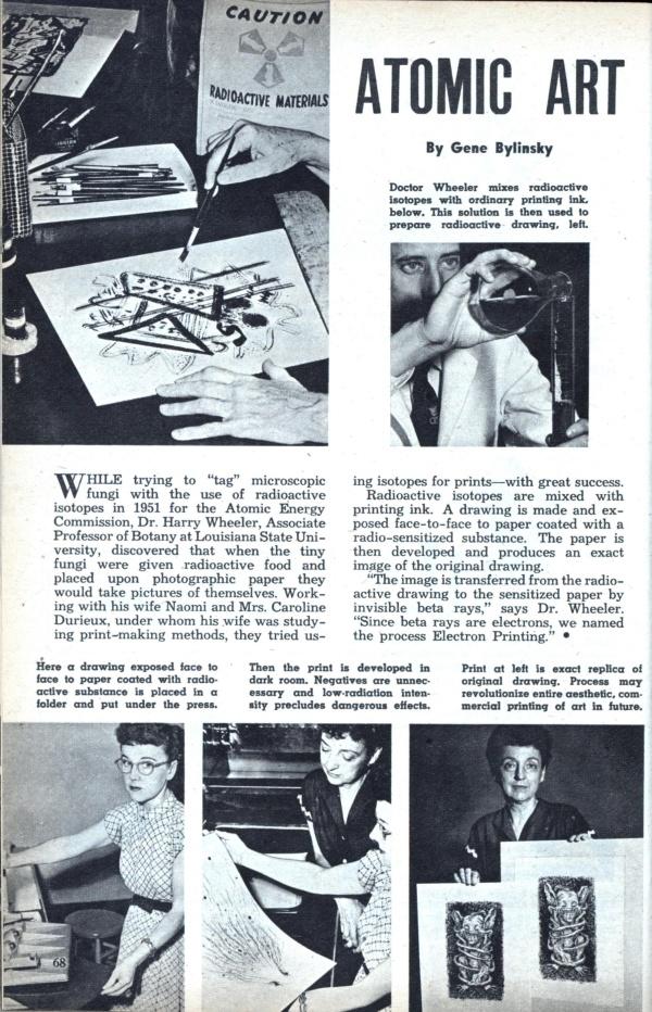 matéria de revista antiga sobre forma de arte