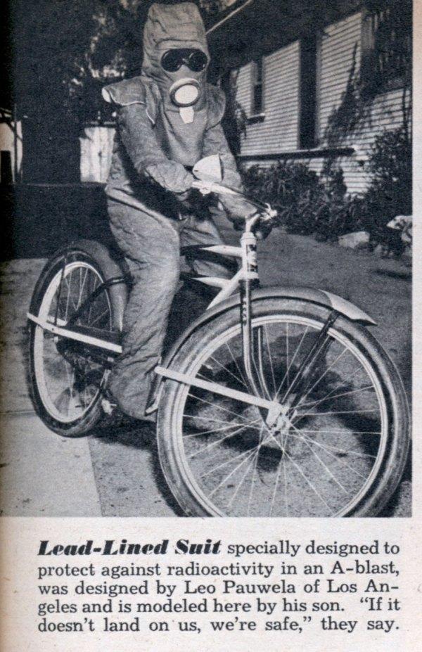 ciclista com roupa anti radiação